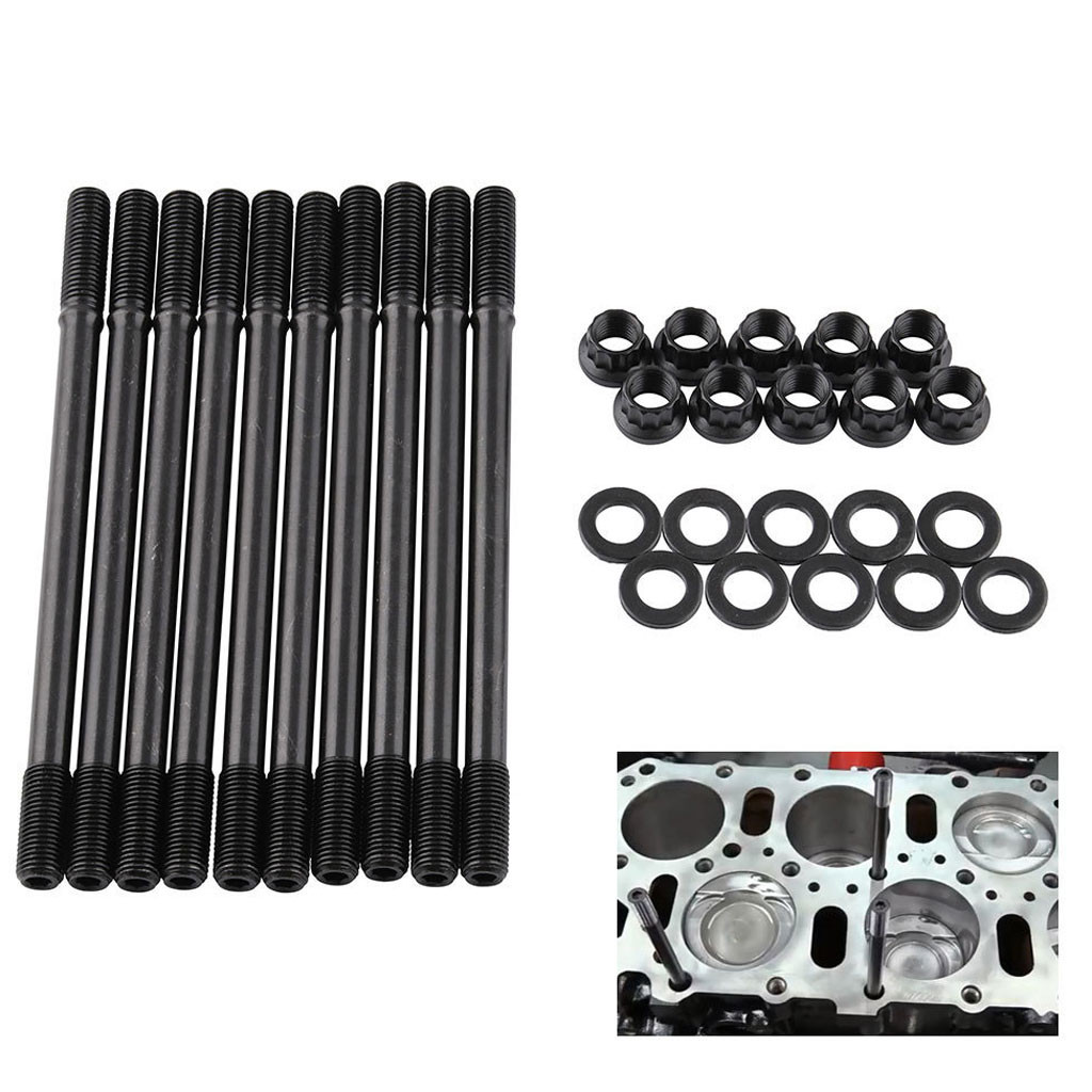 Franchise Cylinder Head Stud Kit Black For Honda Acura Integra Gsr B18c1 B18c5 B20vtec 0605 Cylinder Body Parts Aliexpress