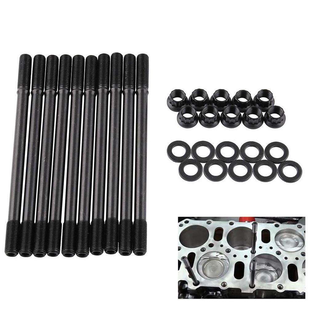 Franchise Cylinder Head Stud Kit Black For Honda Acura Integra GSR B18C1 B18C5 B20VTEC #0605