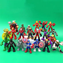AOSST Action Figure Toy Dolls MARVELS Avengers Infinite War Spider-Man Hulk Iron Man Captain America Gift collection(China)