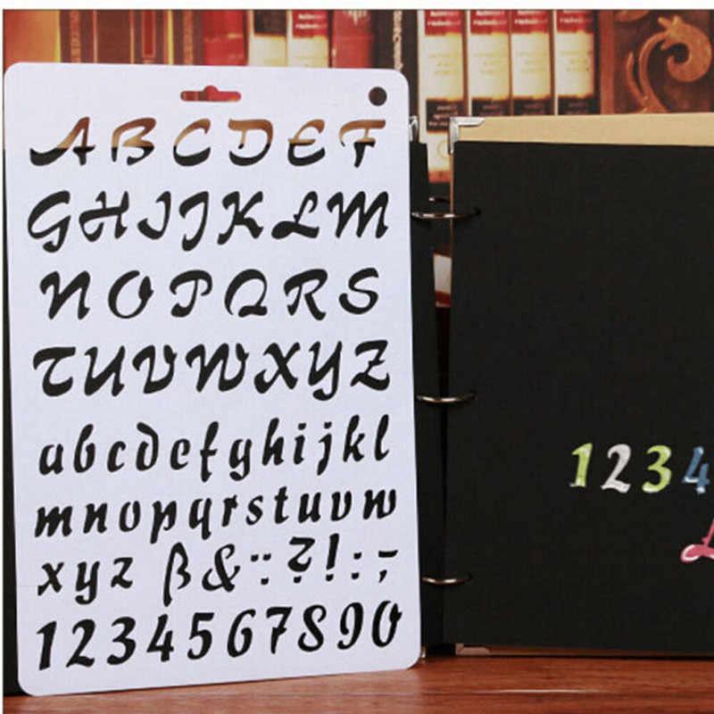 Alfabeto ABC número de capas de plantillas de pintura papel de Scrapbooking Plantilla de tarjeta de decoración