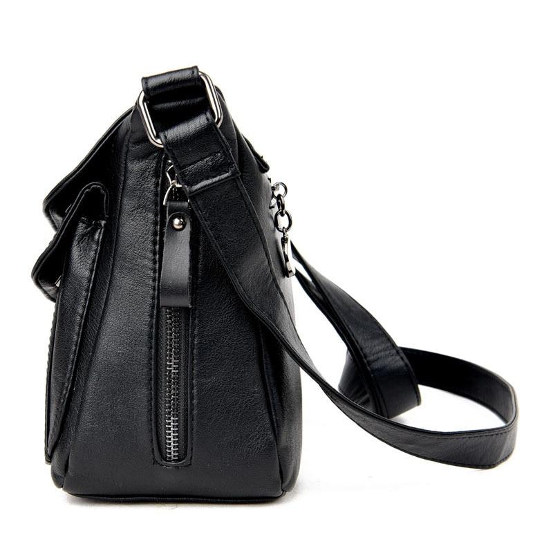 Fashion Solid Genuine Leather Women Messenger Bag Small Shoulder Bags For Women  Ladies Handbags Cross Body Bags Bolsas Femininas-in Shoulder Bags from ... 0b3eda0ab988c