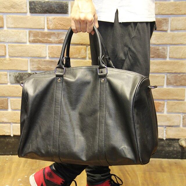 f84123a71a4a Fashion New Brand Waterproof PU Leather Luggage Travel Casual Big Handbag  luggage Bag Weekend Bag Large