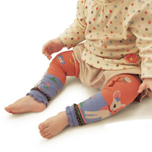 Cartoon Baby Leg Warmers Cute Infant Socks Cotton Knitted Kids Safety Infant Toddler Knee Pads Leg Warmers Boy Girl Kneepad Set