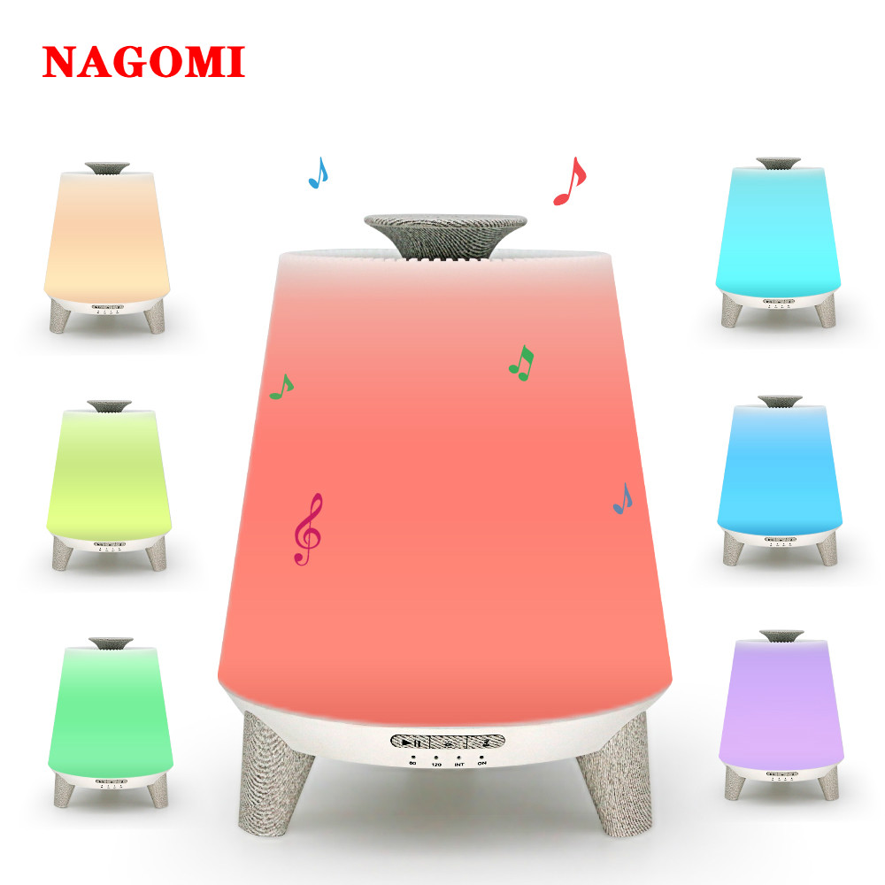 300ML Aroma Essential Oil Diffuser Remote Control Bluetooth Speaker Music Ultrasonic Air Humidifier With 7 Color Night Light300ML Aroma Essential Oil Diffuser Remote Control Bluetooth Speaker Music Ultrasonic Air Humidifier With 7 Color Night Light
