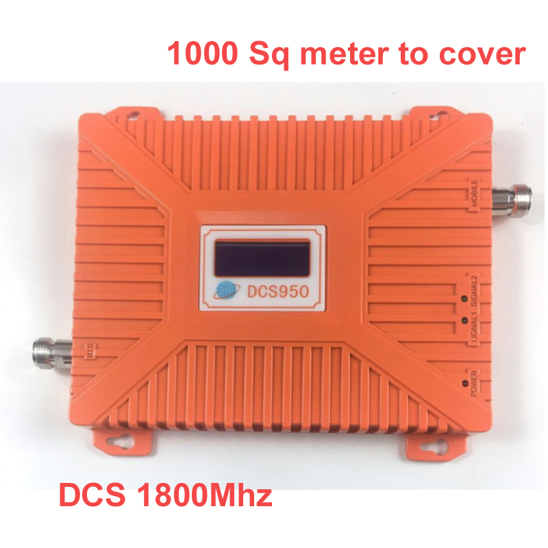 2016 New 1800mhz REPEATER 22 Dbm Gain 65dbi LCD Display Signal Amplifer DCS Booster Repeater Booster Dcs 1800MHZ Repeater