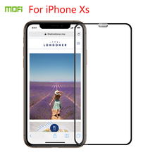For iPhone Xs Tempered Glass MOFI Full Screen Coverage X/xs Protector Film 5.8