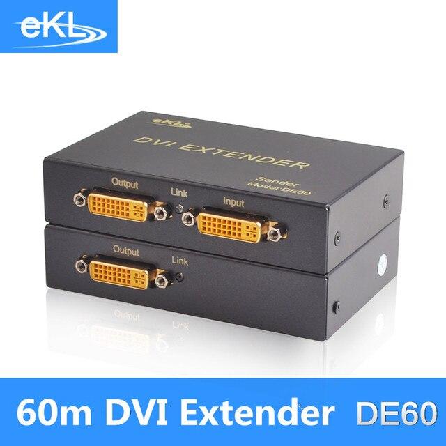 EKL DVI 60M sigle utp Cat5E/6 extender,anti-static industry level design