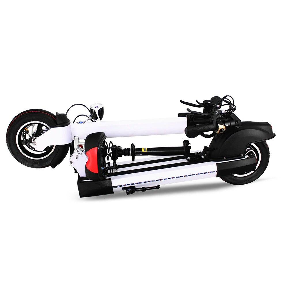 Spor ve Eğlence'ten Kendinden Dengeli Scooterlar'de Yeni Katlanabilir Şok Emme Elektrikli Scooter 2 tekerlekli kick e scooter title=