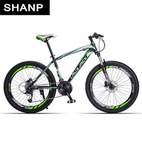 LAUXJACK Mountain Bike Steel Frame 24 Speed Shimano 26 Wheel MTB