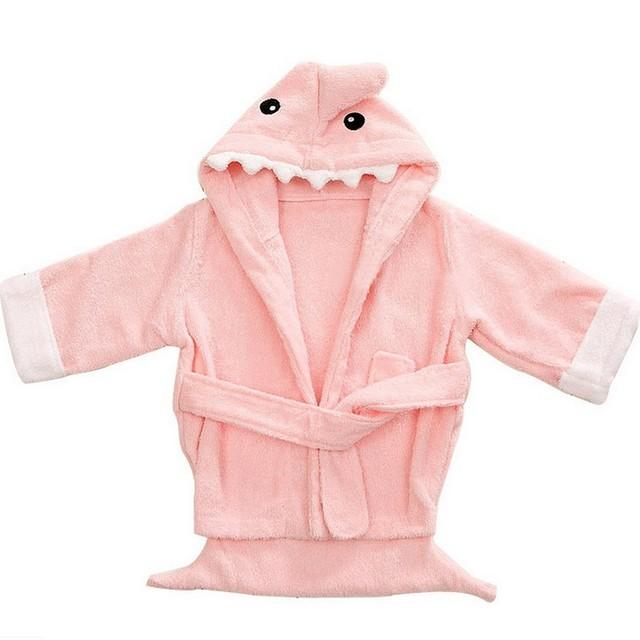 Nueva Llegada Del Bebé Con Capucha Albornoz Encantadora Forma Animal Pijamas para Niñas Ropa de Invierno Para Niños Chicos ropa de Dormir Toalla de Baño Suave