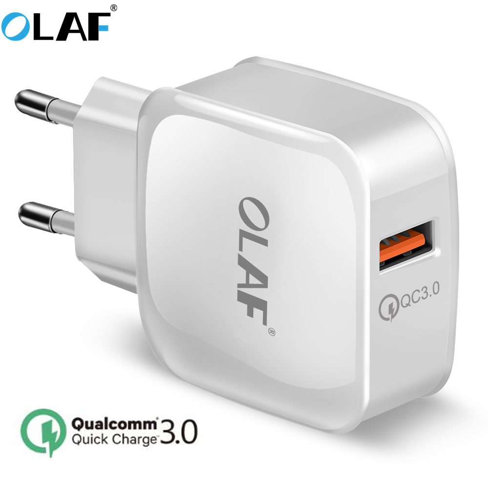 OALF 2.4A Quick Charge 3.0 USB Phone Charger Quick USB Fast Charger Travel Wall Charger Adapter for iPhone x 7 8 Samsung Xiaomi