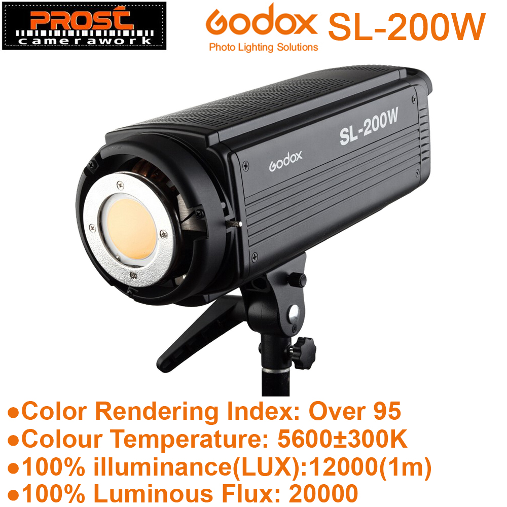 Godox SL-200W 200 W Version LCD panneau LED lumière vidéo contrôle sans fil pour mariage journalistique vidéo enregistrement Photo Studio