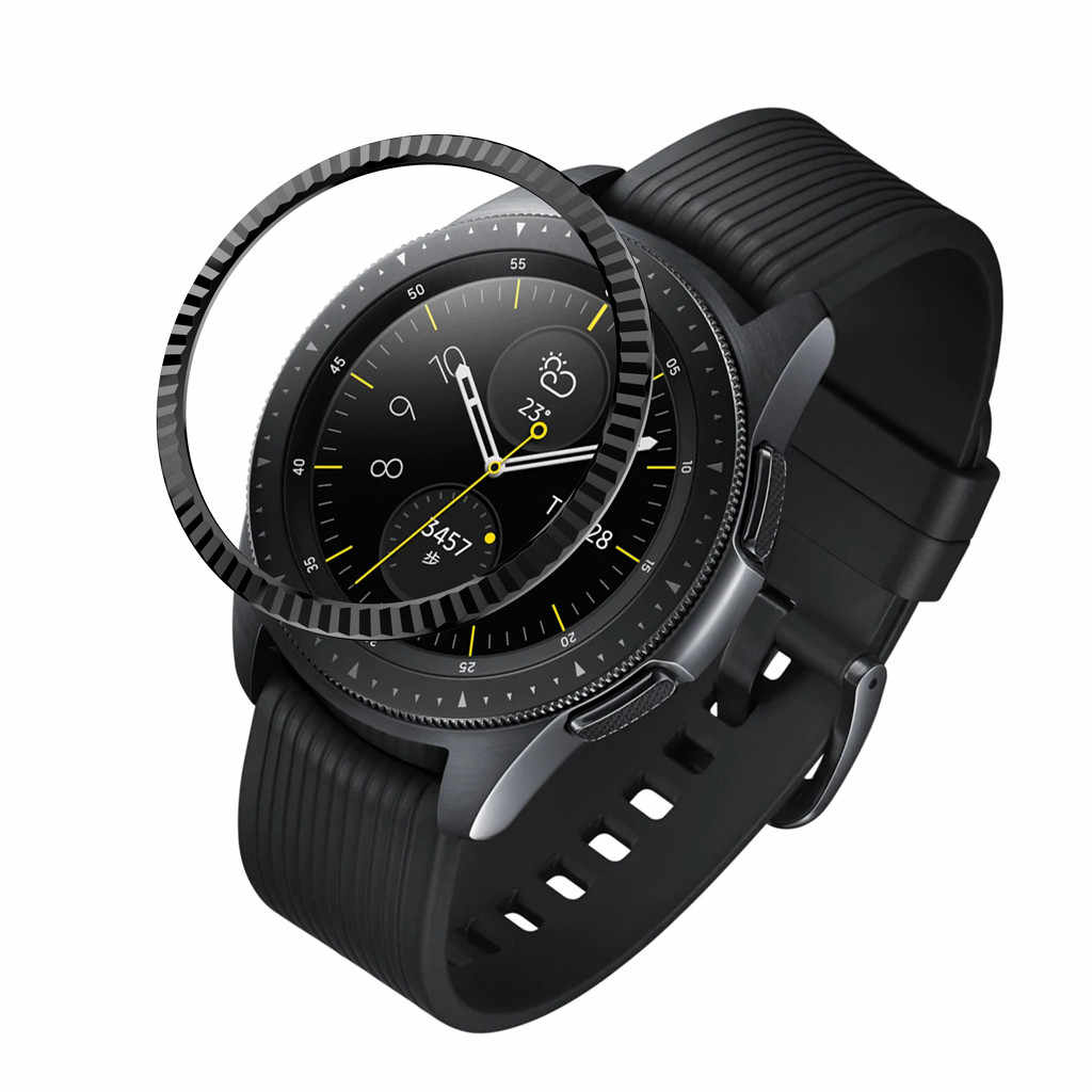 For Samsung Galaxy Watch 42MM Bezel Ring Adhesive Cover Anti Scratch Metal 2019 New Arrival fashion
