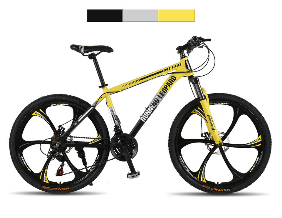 HTB1Rl9hXdfvK1RjSszhq6AcGFXaQ Running Leopard mountain bike 26 inch 21/24 speed bikes aluminum alloy frame mountain bike Mechanical double disc brake bicycle