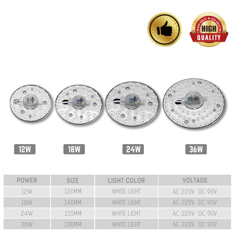 Celling Lamp Lighting Source AC220V 12W 18W 24W 36W LED Panel Light LED Light Board Octopus Light Tube Replace Ceiling LED Lamp