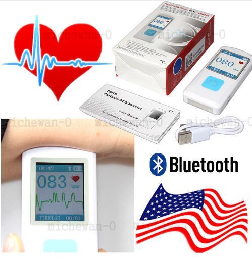 Recarregável Portátil Detector ECG ECG Monitor PM10 Bluetooth Aplicativo Móvel, CONTEC NÓS