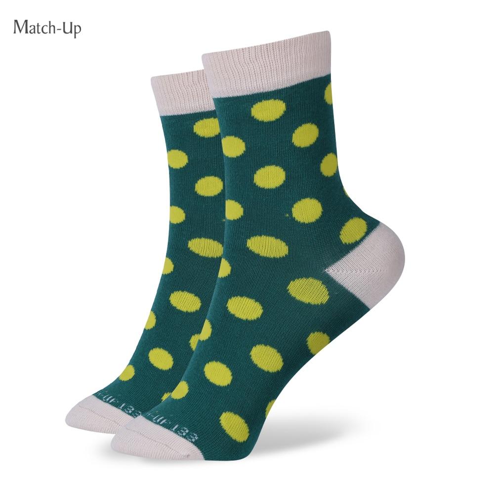 Match-Up Doprava zdarma dámská bavlněná ponožka Dámské tečky ponožky