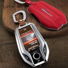 Автомобиль Стильный ключ кольца защиты охватывает наклейки Накладка для BMW X3 X4 G01 5 серии G30 G38 защиты оболочки интерьер авто аксессуары
