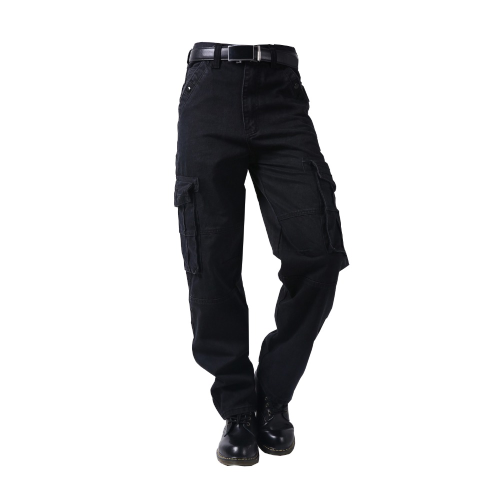 Plus Size Russian Style Mens Cargo   Jeans   With Cargo Pocket Baggy Cargo Pants Denim Black Realaxed Loose Straight   Jeans   For Men