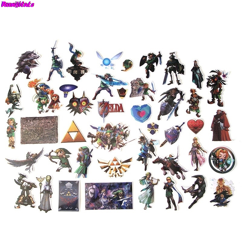 R116 44pcs/set Cool Personality Sticker Motorcycle And Suitcase Cool Laptop Sticker Skateboard Sticker