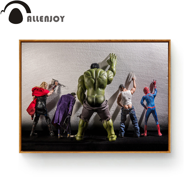 Paintings For Living Room Wall Accent Paint Ideas Toilet Hulk Thor Joker Spider Man Wolverine Marvel Heroes ...