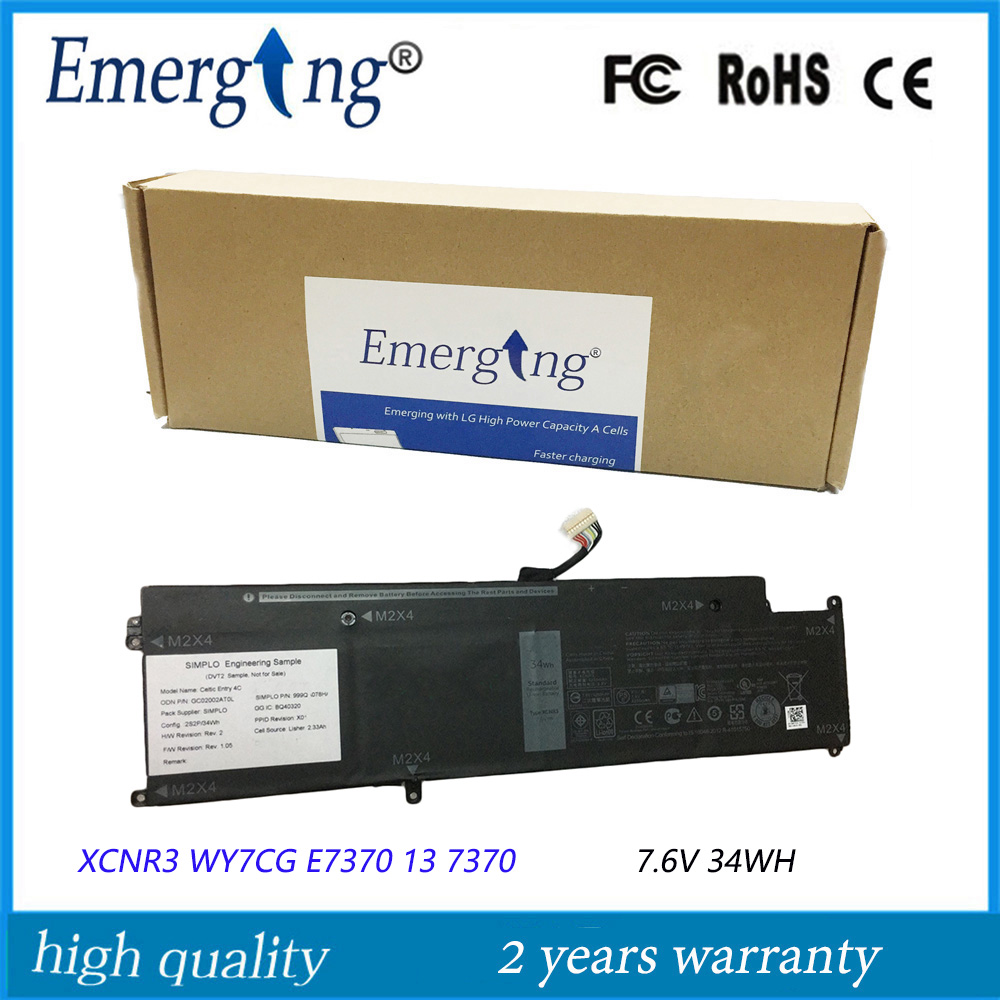 7.6V 34WH New Original Laptop Battery for Dell Latitude 13 7370 E7370 WY7CG XCNR3 все цены