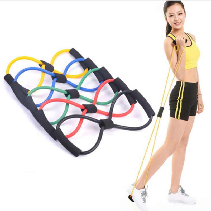 Cooperative Fitness Elastic Rubber Loop Useful Yoga Belts Sports Rubber Band Tension Chest Harness Expander Pilates Fitness Belt Bright Luster