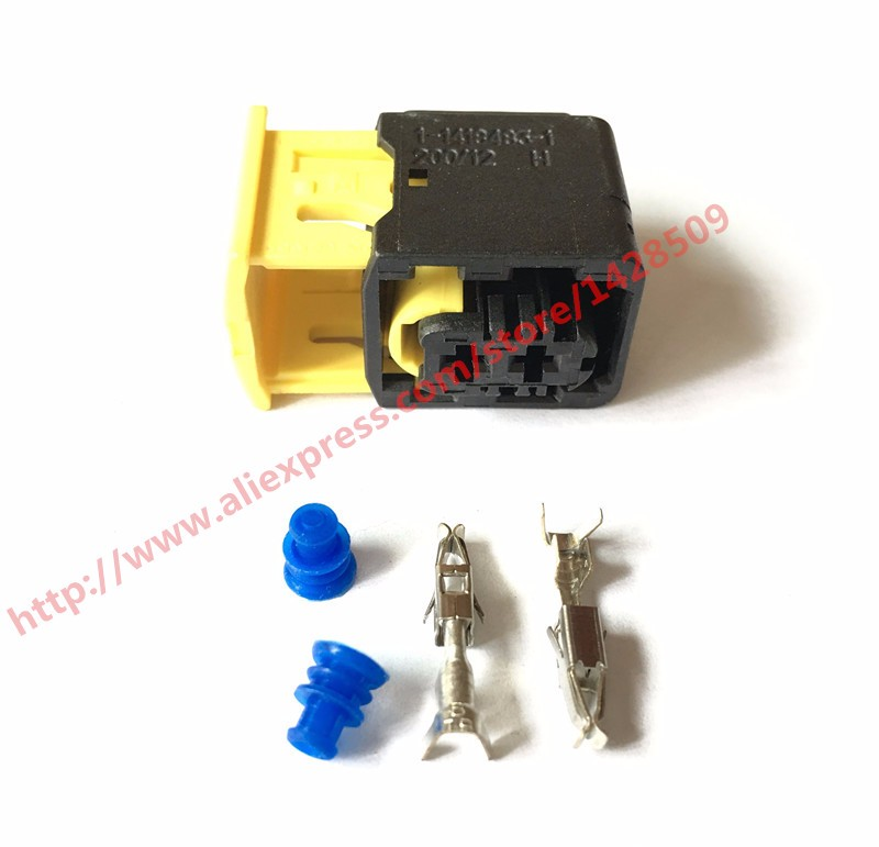 10 Set 1 1418483 1 TE Tyco AMP 2 Pin Waterproof Auto Connector Socket Plug With