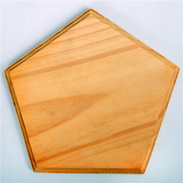 New blank plaque irregular shaped wood decoration