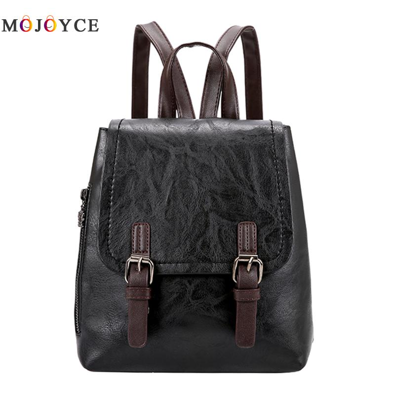 Luxury Brand Women Backpack Teenage Girls Mini School Bagpack Vintage Pu Leather Backpacks Travel Rucksack Mochila Feminina