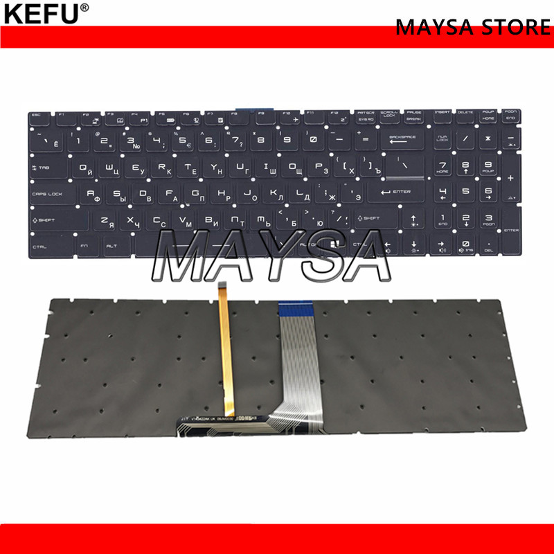 Russian Backlit Keyboard for MSI GT62 GT72 GE62 GE72 GS60 GS70 GL62 GL72 GP62 GP72 CX62 GS63VR GS73VR GT72VR GT83VR crystal RU