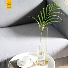 RUX WORKSHOP Store Modern northern Europe Minimalist vase Home decoration wedding gift Gold Dried flower decorative