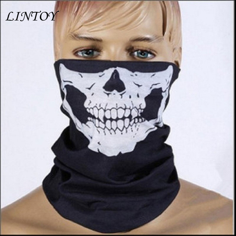 Outdoor Sports Fashion Skull Wicking Seamless Cycling Bike Bicycle Riding Veil Multi Head Scarf Face Masks Bandana Skull Scarves outdoor sports cycling mask bike riding variety turban magic bicycle designal scarf women scarves