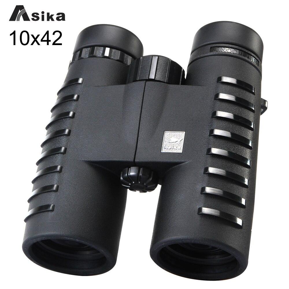 10x42 Кемпинг прицелов Asika бинокль с шеи ремень сумка Бесплатная доставка телескопы Bak4 Prism Оптика бинокль