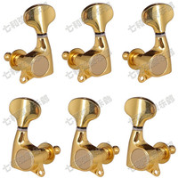 QHX A Set 6 Pcs gold Sealed gear Acoustic Electric Guitar Tuning Pegs Tuners Machine Heads guitar accessories parts