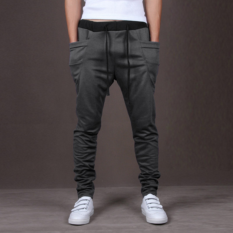 Men's Sports Harem Pants Trousers Casual Fashion Baggy Stylish Hip Hop Jogger GDD99