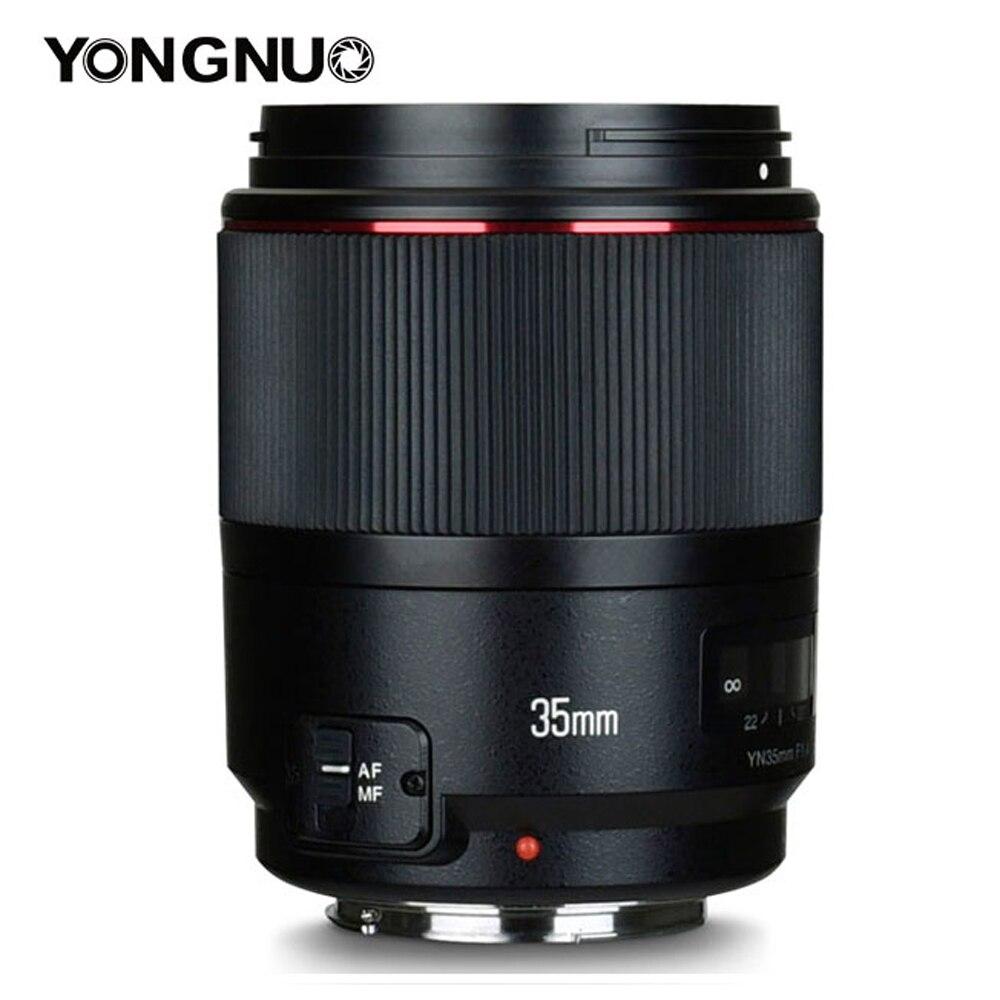 YONGNUO YN35mm F1.4 Wide-Angle Prime Full Frame AF MF Lens For Canon 6D 5D MARK IV 6D MARK II T6 750D 70D 7D 80D 650D Camera
