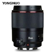 YONGNUO YN35mm F1.4 רחב זווית ראש מלא מסגרת AF MF עדשה עבור Canon 6D 5D סימן IV 6D סימן השני T6 750D 70D 7D 80D 650D מצלמה