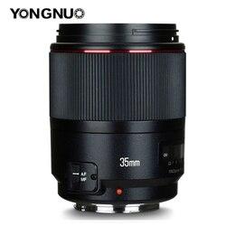 YONGNUO YN35mm F1.4 широкоугольная Prime полная Рамка для фотоаппарата Canon 6D 5D MARK IV 6D MARK II T6 750D 70D 7D 80D 650D