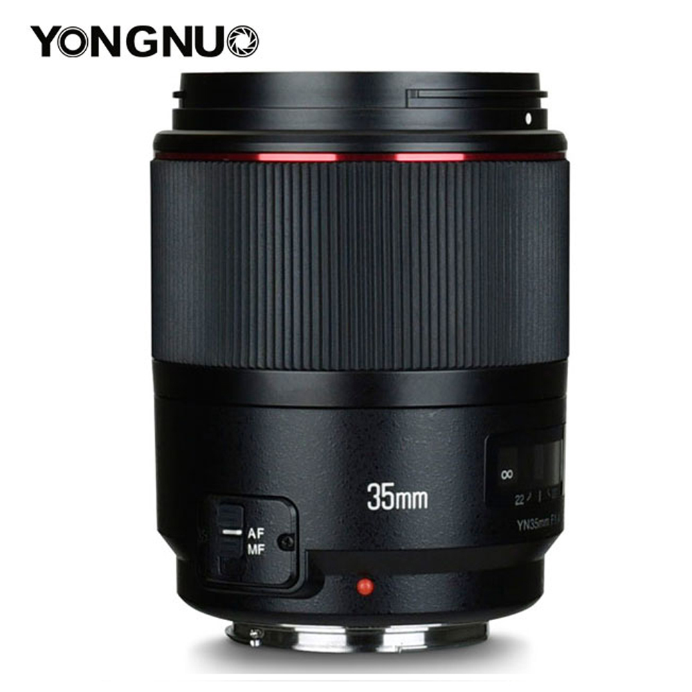 YONGNUO YN35mm F1.4 objectif AF MF grand Angle plein cadre pour Canon 6D 5D MARK IV 6D MARK II T6 750D 70D 7D 80D 650D caméra