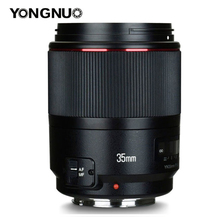 YONGNUO YN35mm F1.4 szerokokątny Prime pełna ramka AF MF obiektyw do modeli canon 6D 5D MARK IV 6D MARK II T6 750D 70D 7D 80D 650D kamera