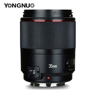 Image 1 - YONGNUO YN35mm F1.4 szerokokątny Prime pełna ramka AF MF obiektyw do modeli canon 6D 5D MARK IV 6D MARK II T6 750D 70D 7D 80D 650D kamera