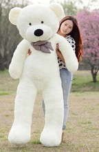 huge plush white teddy bear toy large big eyes bow bear toy stuffed big teddy bear gift 180cm