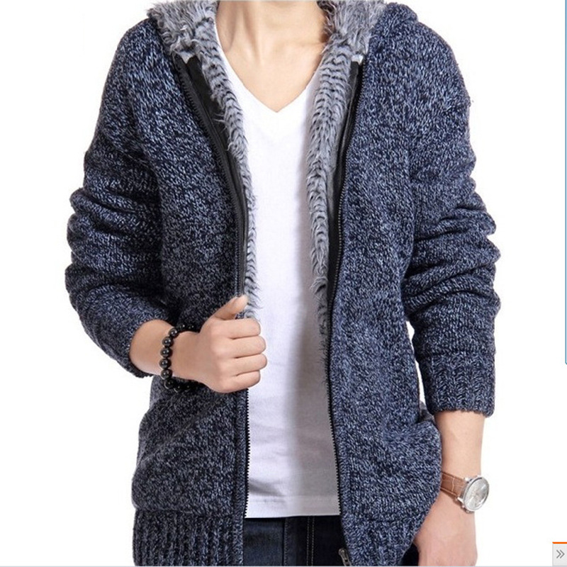 Fall And Winter Cardigan For Man 2018 New Cashmere Men's Sweater And Hat Men's Korean Fashion Knitted Cardigan