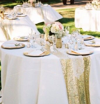 30 275 Cm 180cm High Grade Gold Silver Sequin Table Runner Wedding Sparkly Bling Party Decoration Hgtxtr001 In Runners From Home