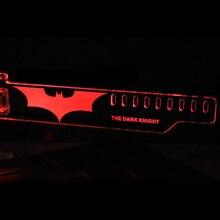 Date Rouge Version Étendue Pour LE DARK KNIGHT LED Lumineux ordinateur Boîte Principale GTX Cartes Graphiques Supportent les Cadre Affichage Carte SON