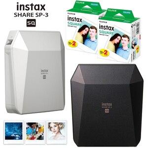 Image 1 - Fujifilm Instax حصة SP 3 طابعة محمولة فيلم لحظة صور مربع مربع الطابعات أسود/أبيض + 20/40 ورقة Instax مربع الأفلام