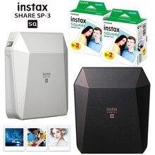 Fujifilm Instax Share SP 3, impresora móvil, impresión de película instantánea, impresoras cuadradas de fotos en negro/BLANCO + 20/40 hojas Instax Square Films
