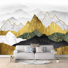 Creative wallpaper abstract golden ink landscape artistic background wall professional custom mural photo