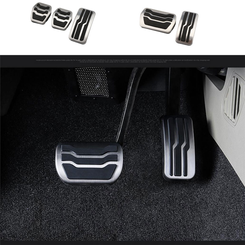 Stainless Steel Car font b Interior b font Gas Fuel Pedal Brake Pedals Cover for Ford
